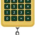 CANON-KC30Y-keychain-green-and-gold-Calculator