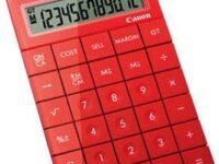 Canon-XMARK1R-slimline-red-Calculator